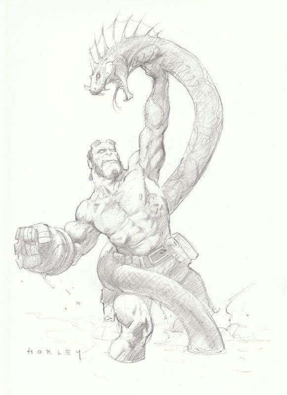 Alex Horley-Hellboy-SDCC 2009 Comic Art