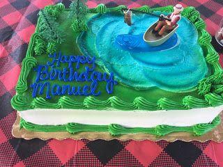 Fisherman cake - Torta de pescador ideal para una fiesta de camping