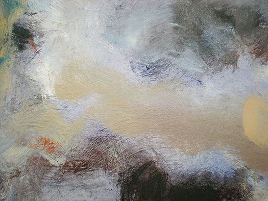 Texture & tone - close up of Janet Dawson's 'Red Cabbage and Clouds' 2013, oil on canvas.