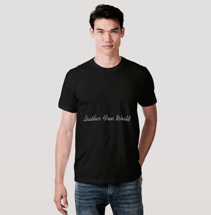 "Vegan organic cotton t-shirt. For plant based vegans who want to make a statement. The back reads ""End Animal Agriculture"". It's Ethically made and cruelty-free. Check it out in-store, as part of our new ""Leather Free World""."