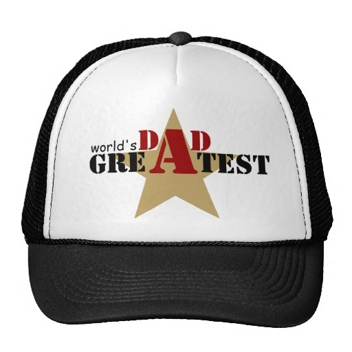 World's Greatest Dad hat #fathersday, #dad, #Worldsgreatestdad, #hat, #star #black #red  See more #gifts here http://www.zazzle.com/zazzleproducts1?rf=238228936251904937=zBookmarklet