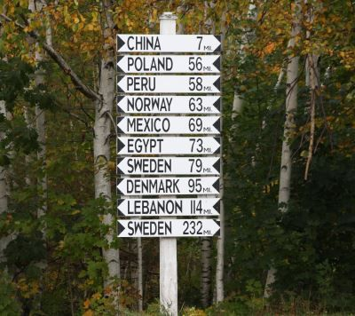 This Is An Actual Sign In South China Maine It S The