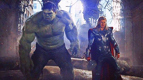 "Hulk's like, ""I wasn't finished earlier, you puny god."""