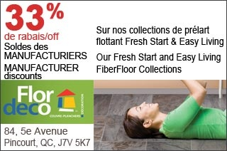 Tapis Pincourt Inc. 33% Off Selected Fiber Floor Collections  Prices valid from May 24 to June 15, 2013  http://www.groupvaudreuil.com/all-deals/tapis-pincourt-inc.-33-off