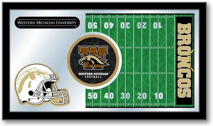 Western Michigan Broncos Football Team Sports Mirror at SportsFansPlus.com. Visit website for details!