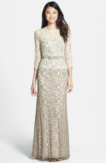 Tadashi Shoji Mock Two Piece Lace Gown available at #Nordstrom