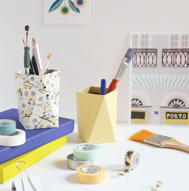 Adeline Klam - DIY pots à crayons géometriques