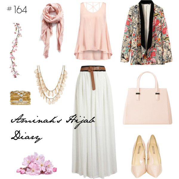 Aminah´s Hijab Diary #hijab #muslimah #modest #fashion #pink #white #cherry #flowers #style #look #outfit #ootd #spring #summer #sweet