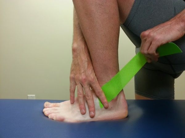 tape high ankle sprain