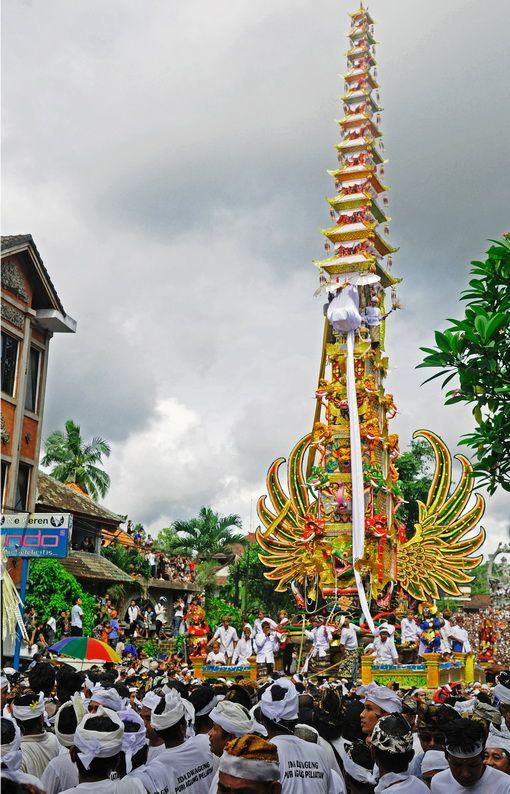 Ngaben ceremony, Bali, Indonesia