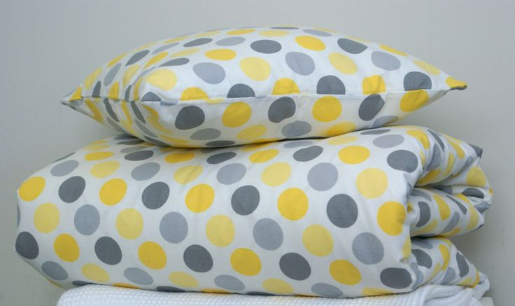 Yellow Sunshine - 3 piece Baby Cot Set - Doona Cover(Duvet) with two matching cushions - crib bedding by LittleBirdieTextiles on Etsy https://www.etsy.com/listing/223911929/yellow-sunshine-3-piece-baby-cot-set