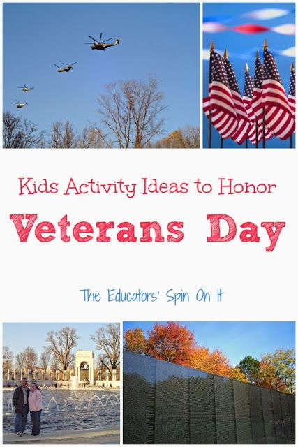 Veterans Day Activities for Kids from The Educators' Spin On It