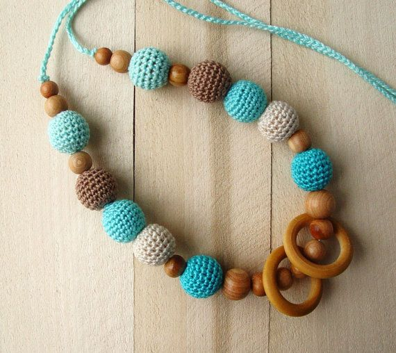 Teething Nursing Necklace Breastfeeding Necklace by NittoMiton