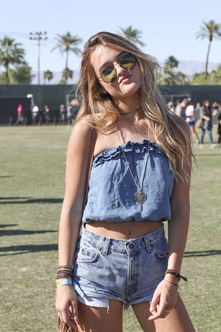 Denim everything | Coachella outfits [Photo: Katie Jones]