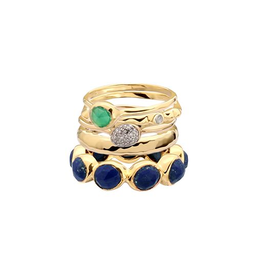 My personalised dream Monica Vinader ring stack #stackandshare