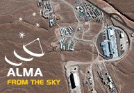 Atacama Large Millimeter/submillimeter Array (ALMA) on the Chajnantor plateau, 5000 meters altitude in northern Chile.