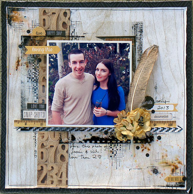 'Loving-This'-By-Michelle-Grant. - Wendy Schultz ~ Scrapbook Pages 1.