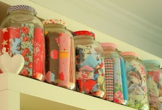 really fun way to organize fat quarters and get to enjoy the cute fabrics at a glance