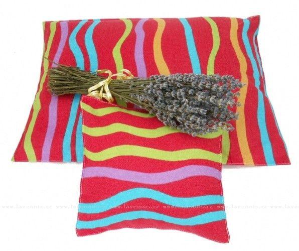 Veselý polštář (vlnitá duha) - s bylinami na přání. #Lavennis #Vanoce #Darek