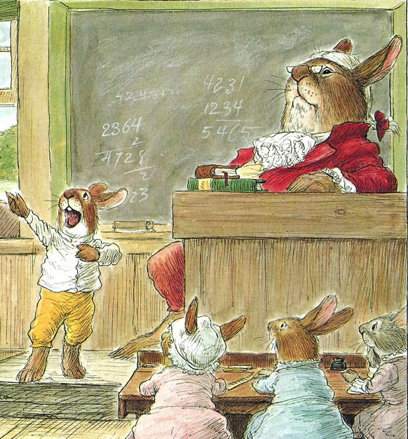 """""""Bunnies Rabbits School"""" illustrated by Wallace Tripp, 1976"""