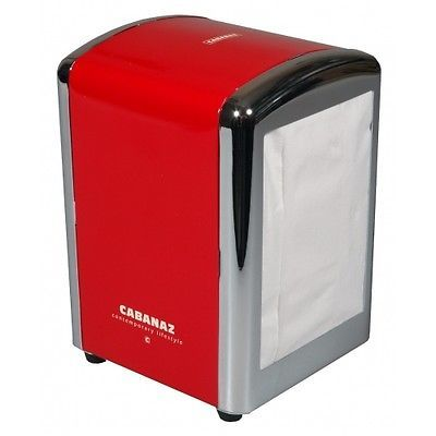 Retro 1950's American Diner Style Napkin/Serviette Tissue Dispenser Holder Red | eBay