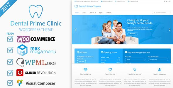 Dental Prime- Medical Health Care & Dentist Center, Multi-Purpose Responsive WordPress Theme by dgeditor Dental Prime is a dental clinic theme that is meant for dental clinic, private dentist office , private doctor office and hospital