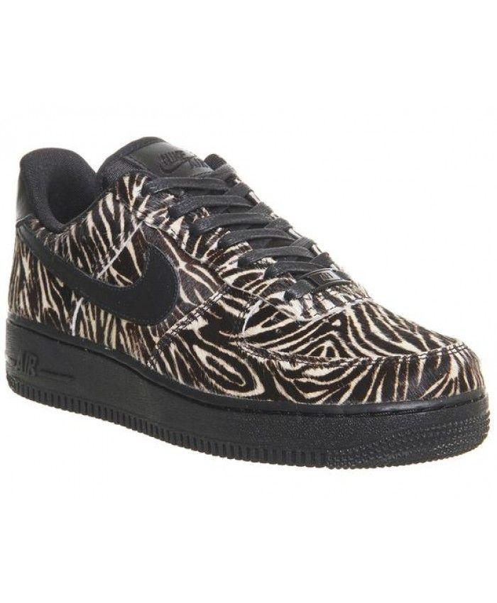 newest 56508 5df6c Nike Air Force 1 Low Zebra Black Sail Shoes UK Sale