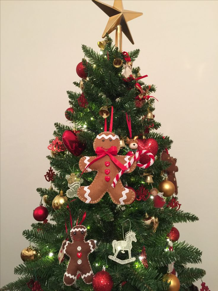 Christmas felted decorations: gingerbread man ❤️️🎄