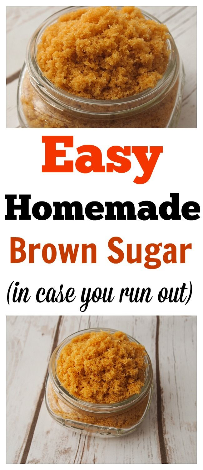 Homemade Brown Sugar-Have you ever wanted to make something that needed brown sugar but then you realize you don't have any or don't have enough? Well, you will never run out of brown sugar with this recipe! made from scratch, homemade recipes, homemade brown sugar, how to soften brown sugar, how to store brown sugar, brown sugar recipe #madefromscratch #homemade #cookingtips
