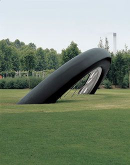 Claes Oldenburg and Coosje van Bruggen, Bicyclette Ensevelie (Buried Bicycle), Parc de la Villette, Paris, 1990