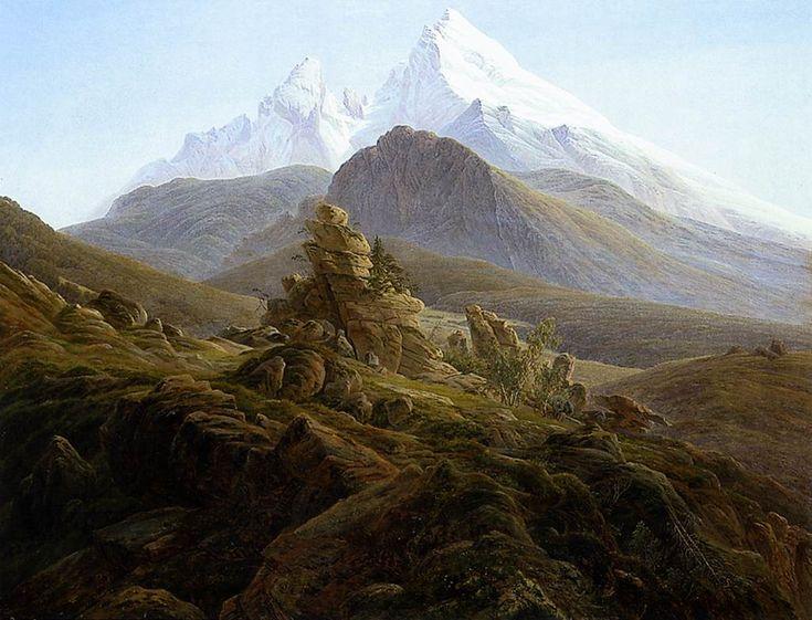 El Watzmann - Caspar David Friedrich