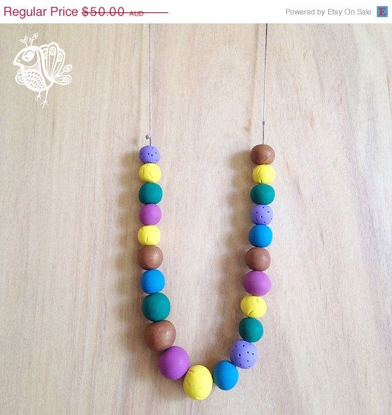 BOXING DAY SALE Handmade Originals Necklace - Statement Colours by ThatWeDo on Etsy https://www.etsy.com/listing/216229907/boxing-day-sale-handmade-originals