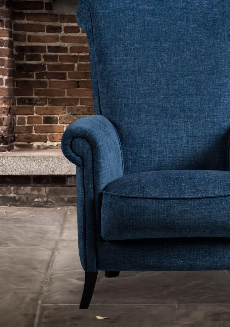 Dit klassieke fauteuil past in bijna ieder interieur. Tevens ook te bestellen met een lagere rug, als model Posh.   Fauteuil Potter, klassiek, romantisch, Meubitrend, fauteuil, interieur, inspiratie