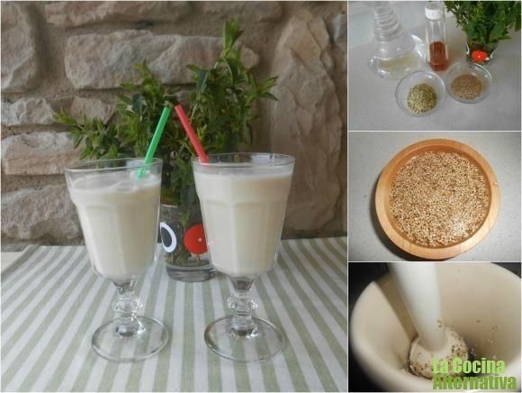 Receta de bebida de semillas de cáñamo y sésamo a la menta - La Cocina Alternativa