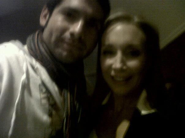 Jano Cid, junto a Karen doggenweiler.