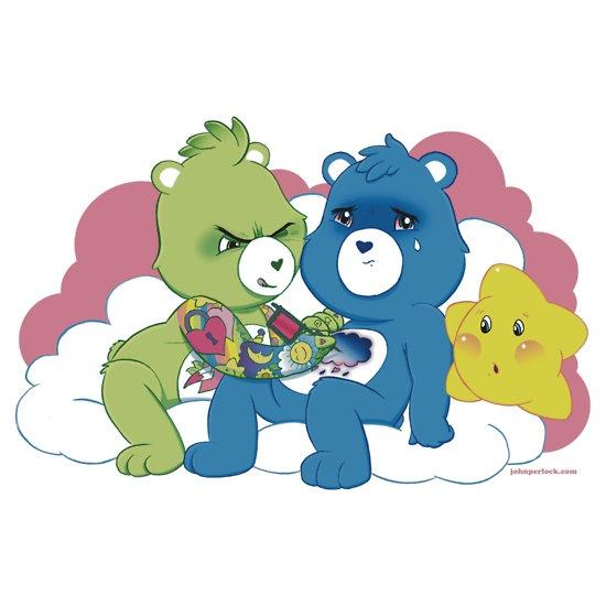 """Care Bears Ink"" Stickers by John Perlock | RedBubbleCare Bears Tattoo, Chest Tattoo, Random Things, Bears Chest, Tattoo Cartoons, Body Art, Bears Ink, Tattoo Bi, Carebear Tattoo"