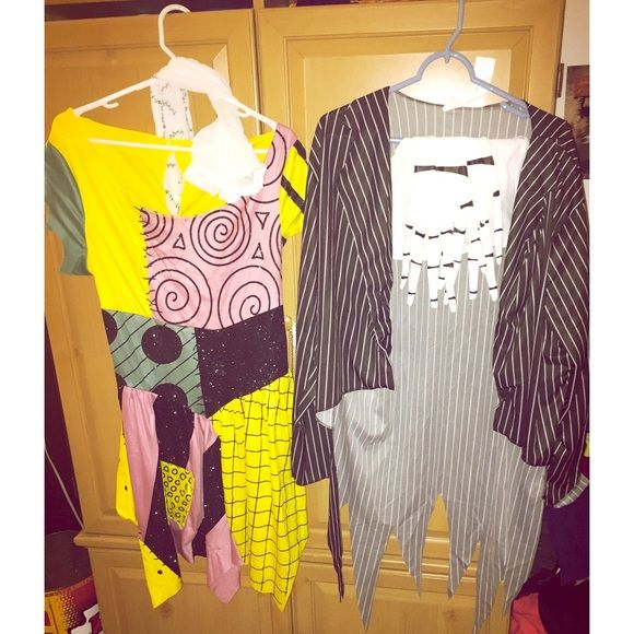 Jack and Sally Costumes! Worn once. Sallys costume is a size large. Comes with dress and stockings. Jack is an XL which is the standard size for this costume. My boyfriend wears a size medium/large and this fit him perfectly. Jacks costume comes with jacket, chest piece and gloves. Bow tie and mask not included** these sell individually for $50+ im asking $65 for both or $35 individually. The Nightmare Before Christmas Other