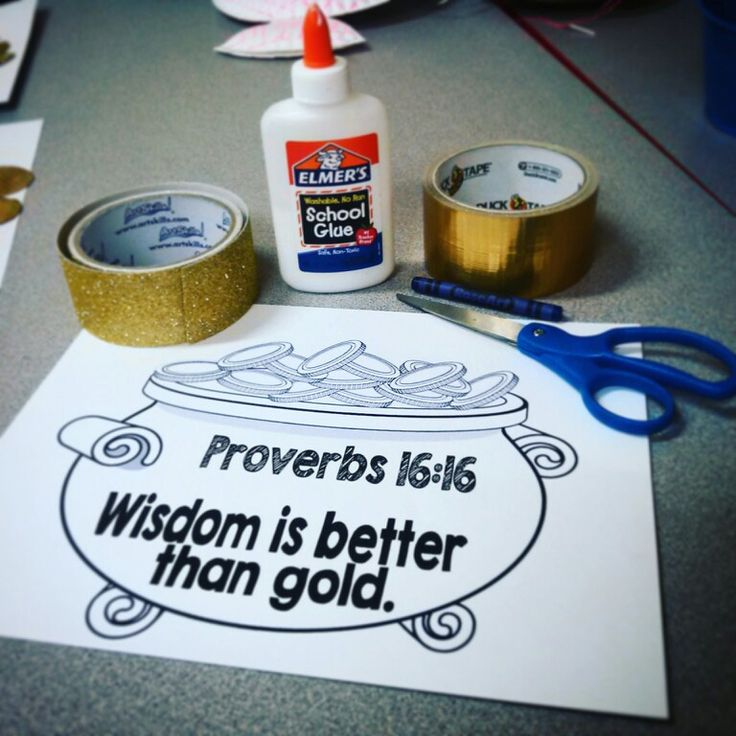 Supplies needed. Solomon wisdom craft. Kindergarten Preschool Craft. Sunday school craft.