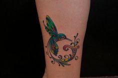 Custom Color Hummingbird Tattoo - Bayside Tattoo, Traverse City Tattoo Shop