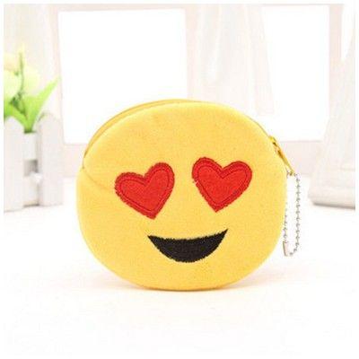 Porte monnaie Emoji Yeux en coeur