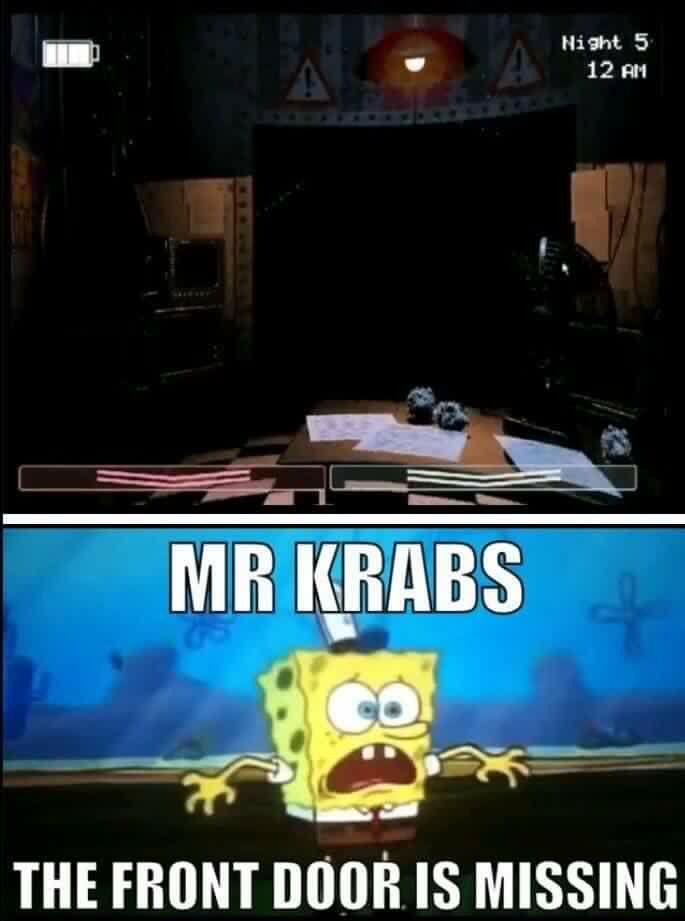 Five Nights At Freddy's 1 : nights, freddy's, Krabs, Memes,, Funny,