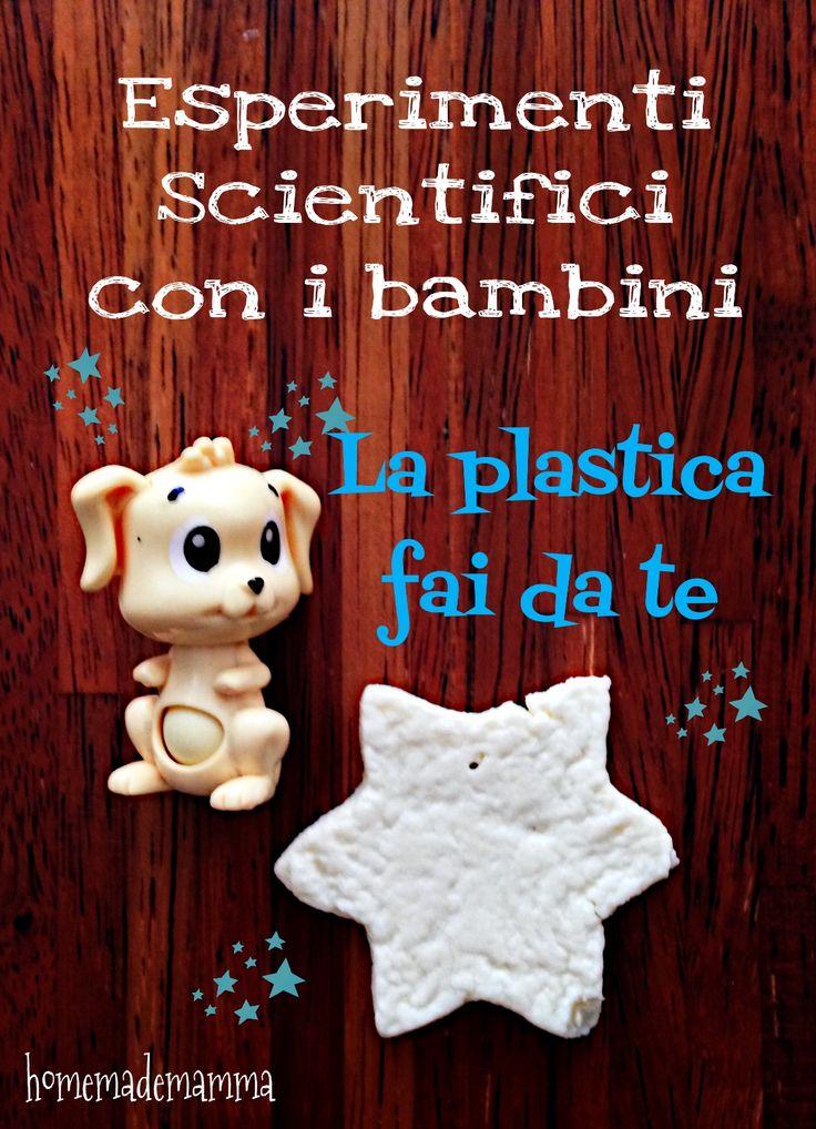 Esperimenti scientifici con i bambini: creare la plastica dal latte