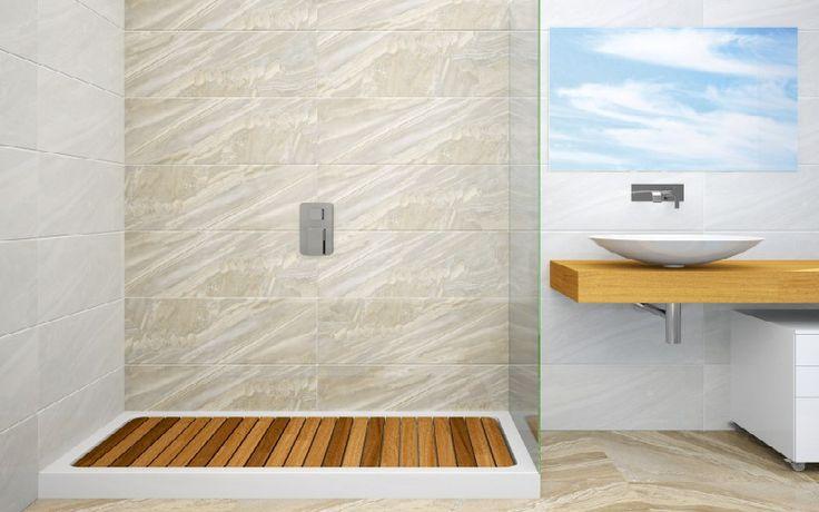 Tarima de madera ip en plato de ducha para aseo tarima - Tarimas para platos de ducha ...