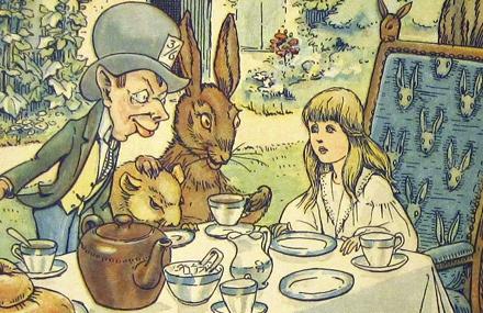 Detail from Alices adventures in Wonderland illustration by William Henry Walker