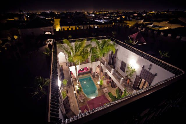 The best view of the second terrace, riad Pachavana