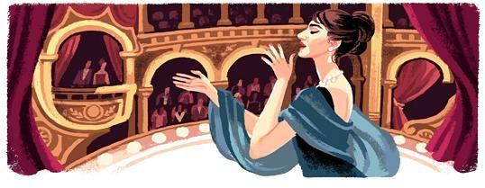 Doodle per Maria Callas