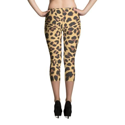 LA Supply Co Leopard Print Capri Leggings