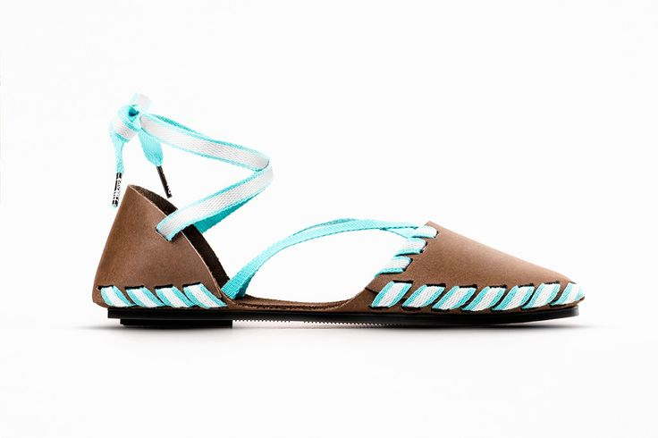 PIKKPACK  FLAT-PACKED LEATHER LACE-UP SANDAL from Pikkpack - Shoes by You