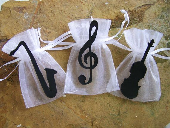 music party theme | Music party supplies theme Favor bags 10 by FavorsByGirlybows, $11.00