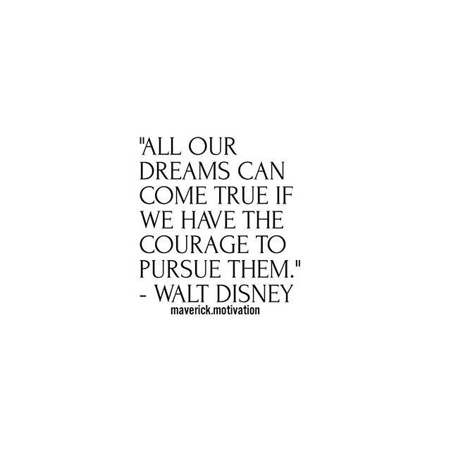 """// Re-post from @maverick.motivation // """"All our dreams can come true if we have the courage to pursue them."""" --Walt Disney . . Tag a friend leave a comment . . . . . . . #quotesoftheday #quotesdaily #motivate #motivated #hustle #getsome #comment #share #sell #sales #ceo #business #businessman #businesswoman #entrepreneurs #entrepreneurship #marketing #maverick.motivation #hardwork #hardworkpaysoff #workhard #play #wellness #entrepreneur #strength #healthychoices"""